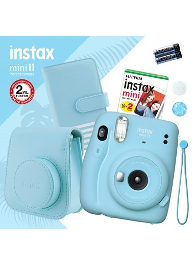 Fujifilm instax mini 11 Mavi Fotoğraf Makinesi ve Hediye Seti 1 Mavi